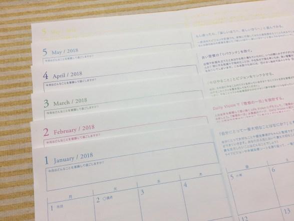 [逆算手帳カスタマイズ ]マンスリーページは、使い始める前にコピーをして使用。マンスリーページとガントチャートの両方が見られる仕様に。