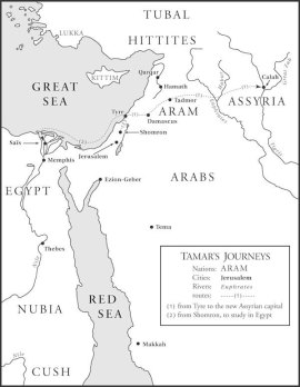 Map 1, Tamar's Journeys, from Throne in the Heart of the Sea.