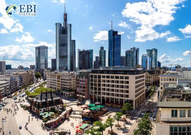 Thành phố Frankfurt tại Đức.