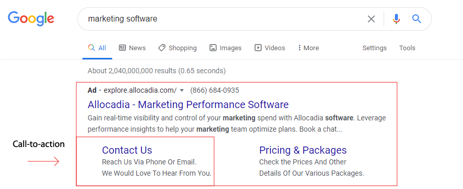 Tips for Crafting Search Ad Ideas: Feature a Call to Action