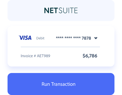 Processing credit cards inside of NetSuite