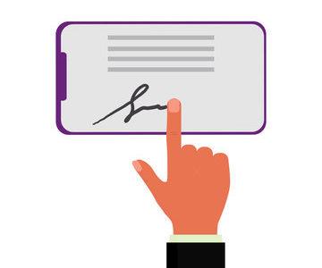 eCheck digital signature