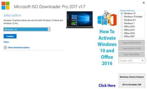 Microsoft ISO Downloader Pro İndir 2020v2.3