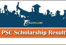 PSC Scholarship Result 2018