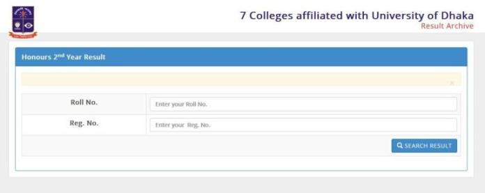 7 College Honours 2nd Year Result