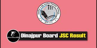 Dinajpur Board JSC Result