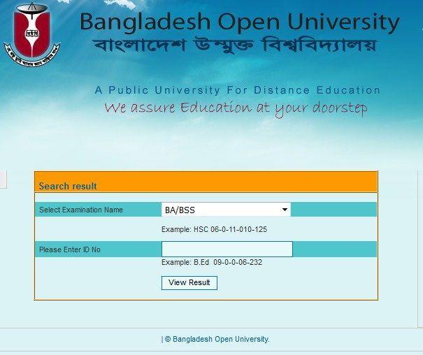 Open University BA/BSS Result