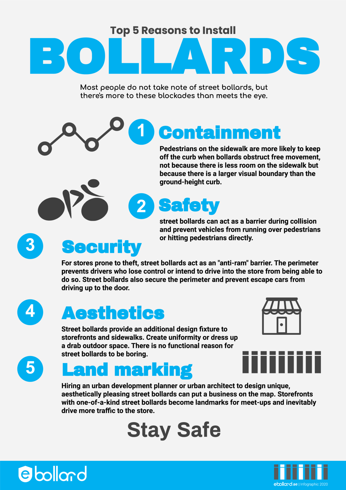 5 Reasons for Bollards Infographic