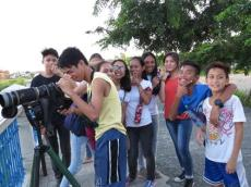 Students from the Muntinlupa National High School join one WBCP guided tour until dusk sets in.