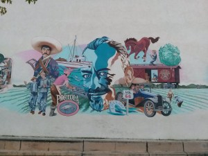 Mural outside of National Steinbeck Center in Salinas California