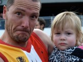 Organiser Jason Evans with daughter Lily