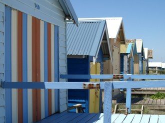 Chelsea Beach 1 bathing boxes