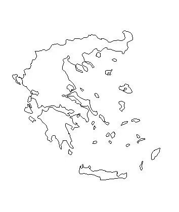Blank Outline Map of Greece
