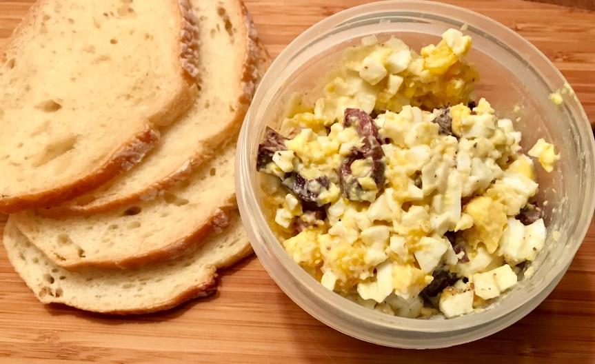 Egg Salad with Kalamata (or Green) Olives