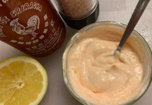 Sriracha Lemon Yogurt Dipping Sauce