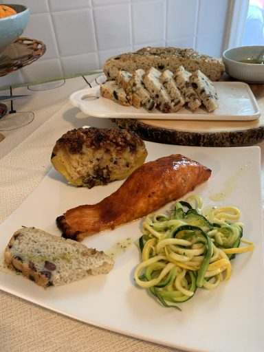 Salmon Sunday with Stuffed squash