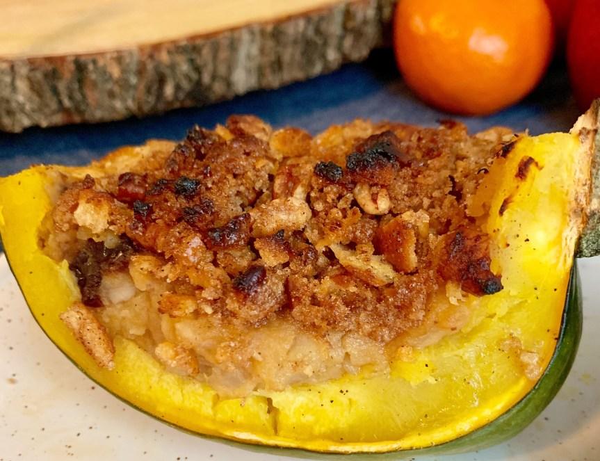 Cherry, Pecan Stuffed Squash – Not my Mother's Stuffed Acorn Squash!