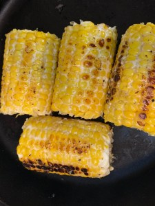 Rustic charred corn with lime