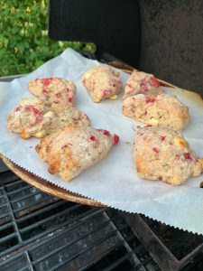 Baking scones on the grill