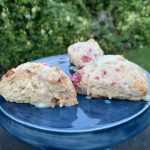Raspberry Lime White Chocolate Scones