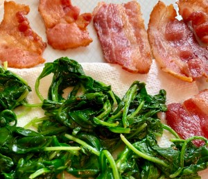 Bacon and Baconny spinach