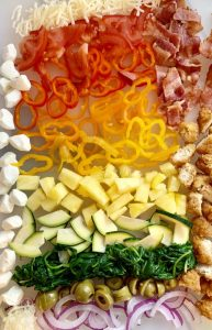 Rainbow of Pizza Toppings