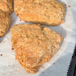 Banana Scones with Greek yogurt and white whole wheat flour