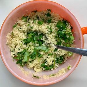 Panko cilantro topping