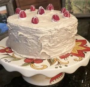 Espresso buttercream banana filled layer cake