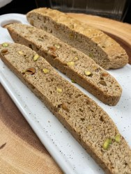 Simple spiced biscotti with pistachios