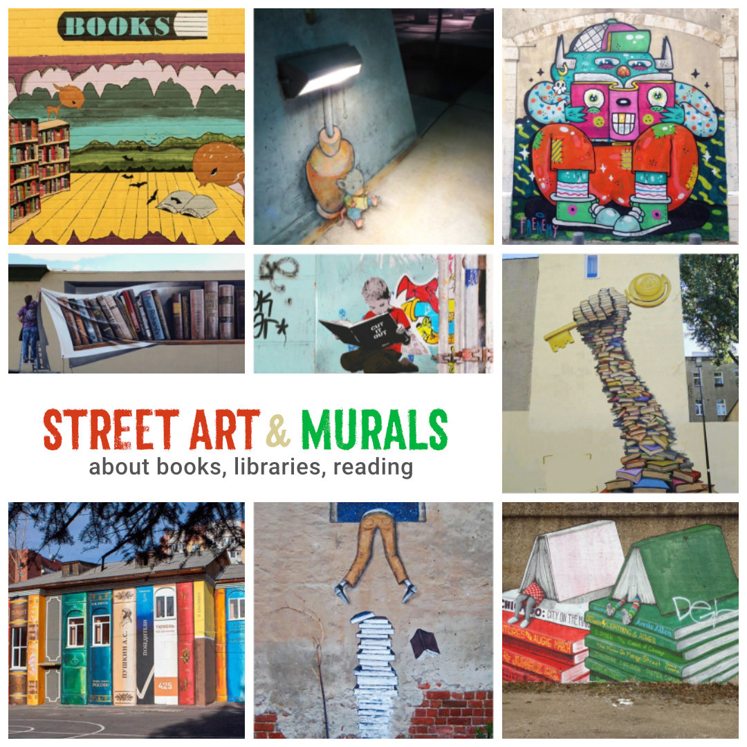 40 Examples Of Street Art And Murals About Books
