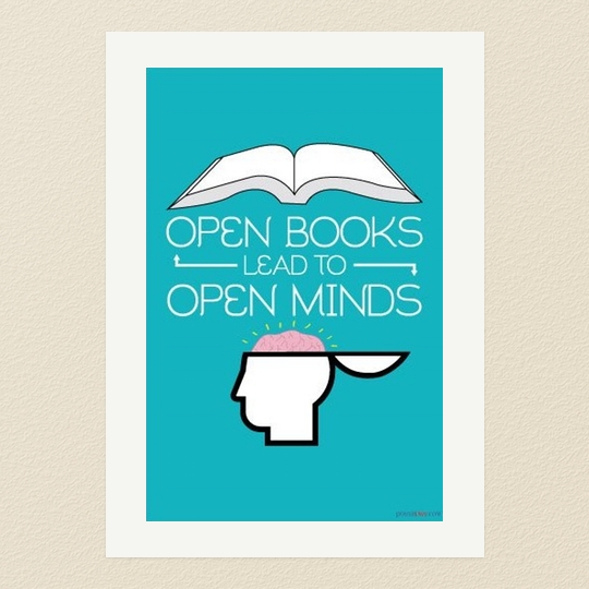 Open Books Lead to Open Minds Poster
