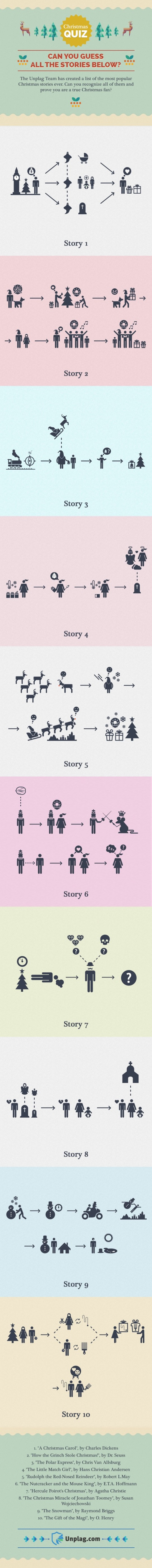 Famous Christmas stories in pictograms