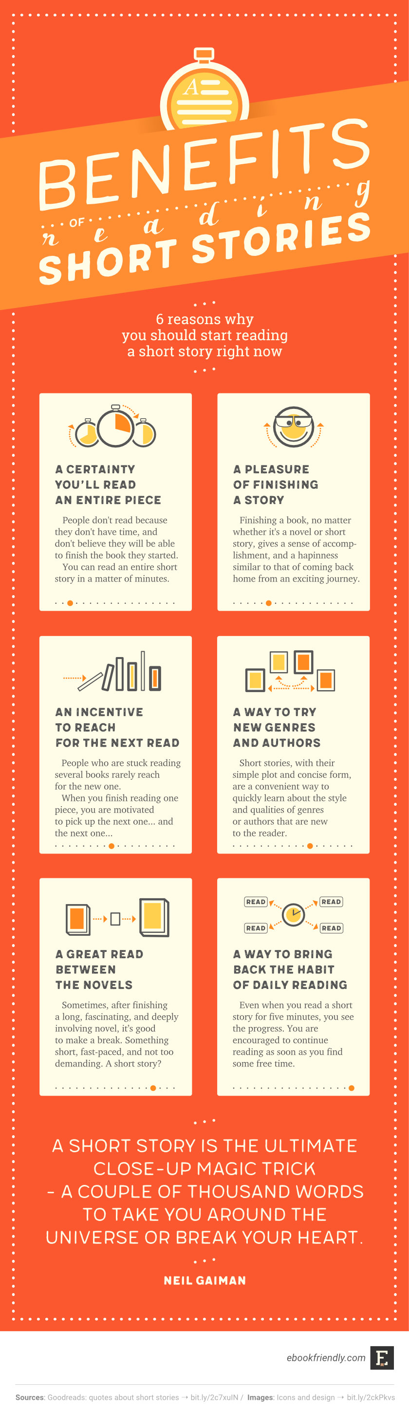 Benefits of reading short stories (infographic) | Ebook Friendly