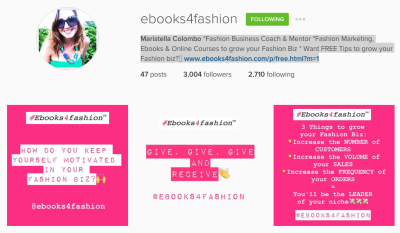 10 Simple ways to increase your Instagram Followers for your Fashion Business.