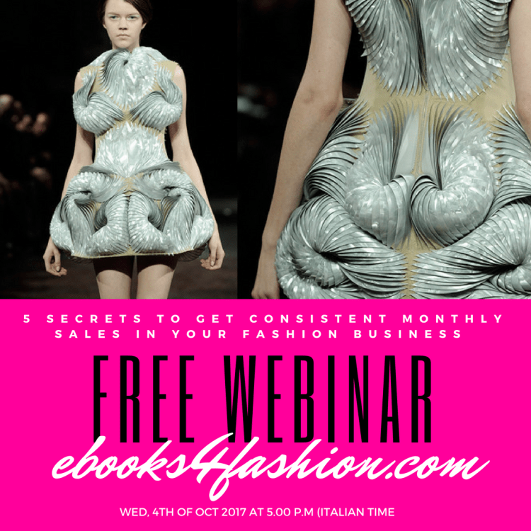 Free Fashion Online Courses : 5 Secrets to get consistent monthly sales in your fashion business