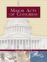 Major Acts of Congress ( 3-Volume Set )