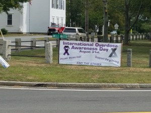 August 31st is International Overdose Awareness Day, EB Town Common Program Tonight 6:30 pm