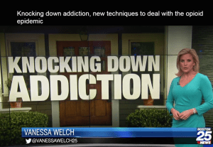 Boston25 News Knocking Down Addiction Police Segment