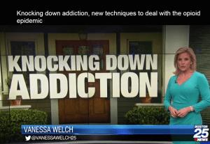 Boston25 News Knocking Down Addiction Police Segment