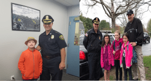 Local Youths Have Recent Ride Alongs with the Chief