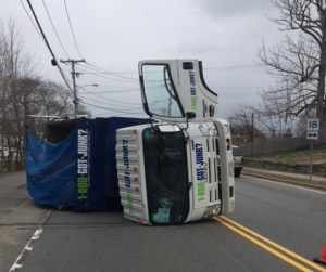 *Joint Release* East Bridgewater Police and Fire Departments Respond to Truck Rollover