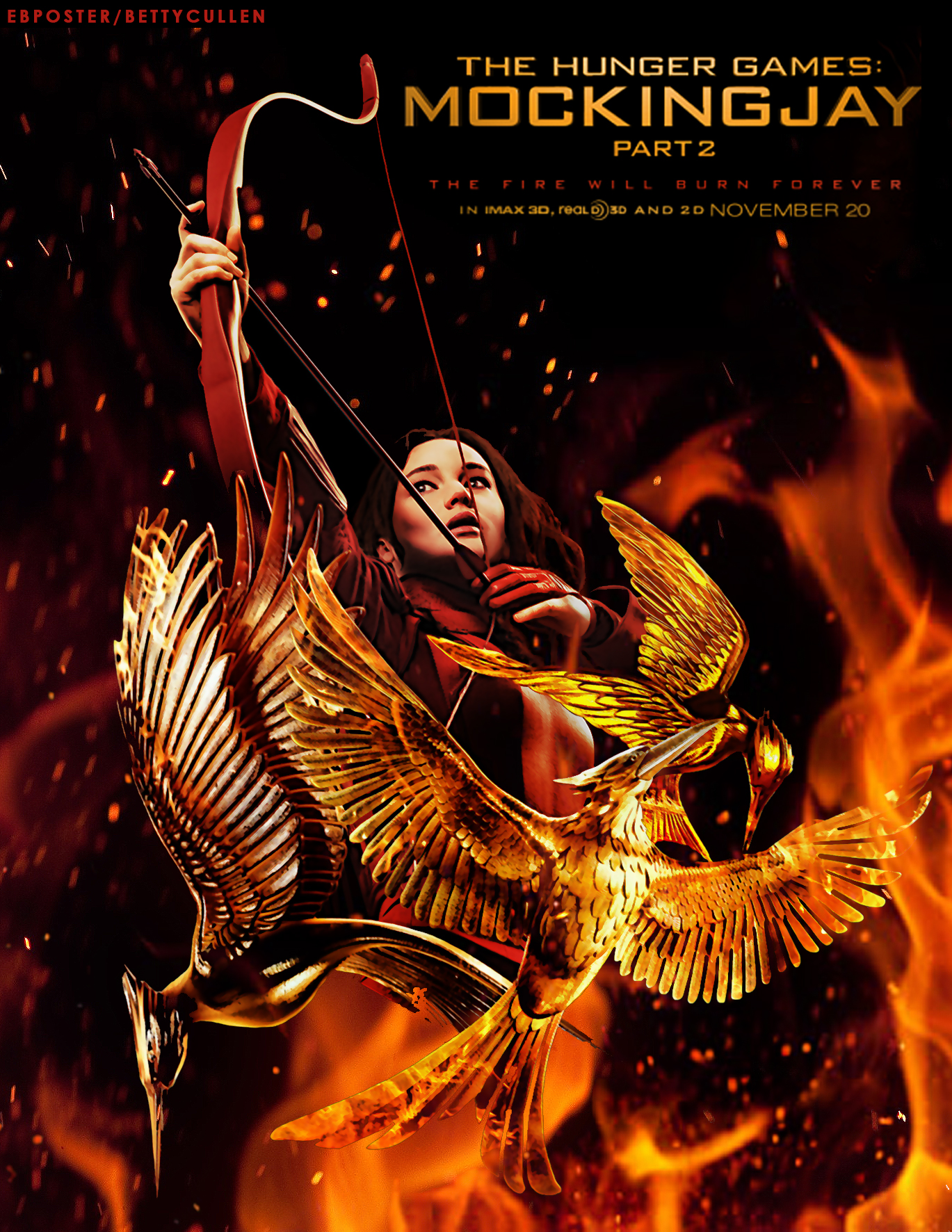 The Hunger Games Trilogy Abstract Poster The Hunger