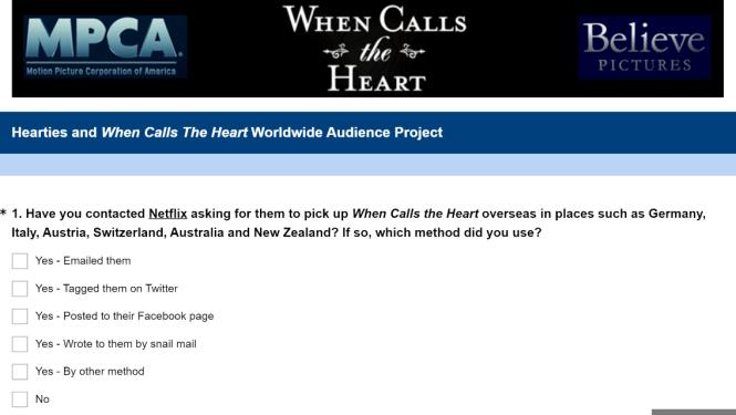 WCTH Survey