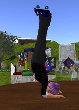 Ellie does yoga