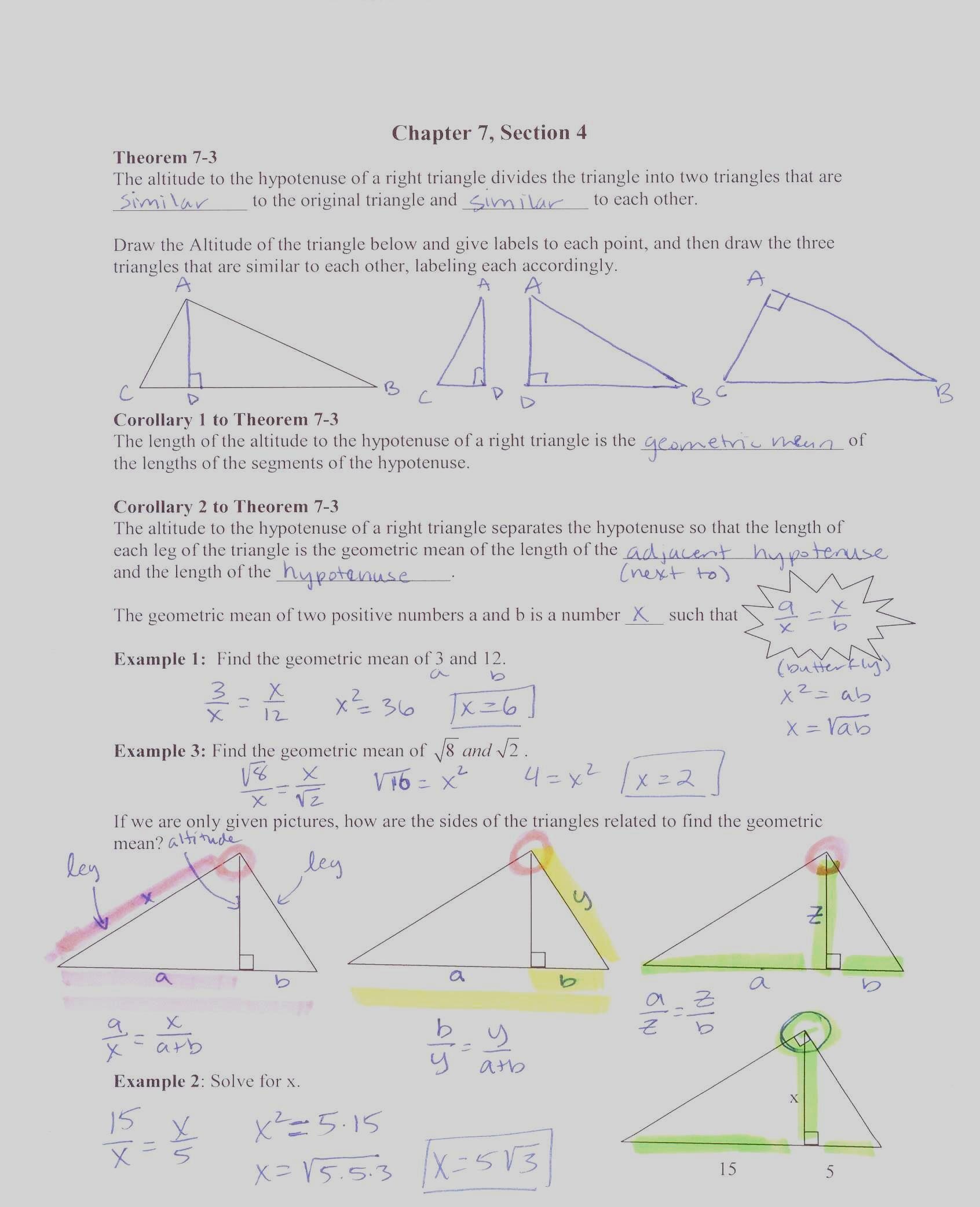 Geometry Worksheet Kites And Trap