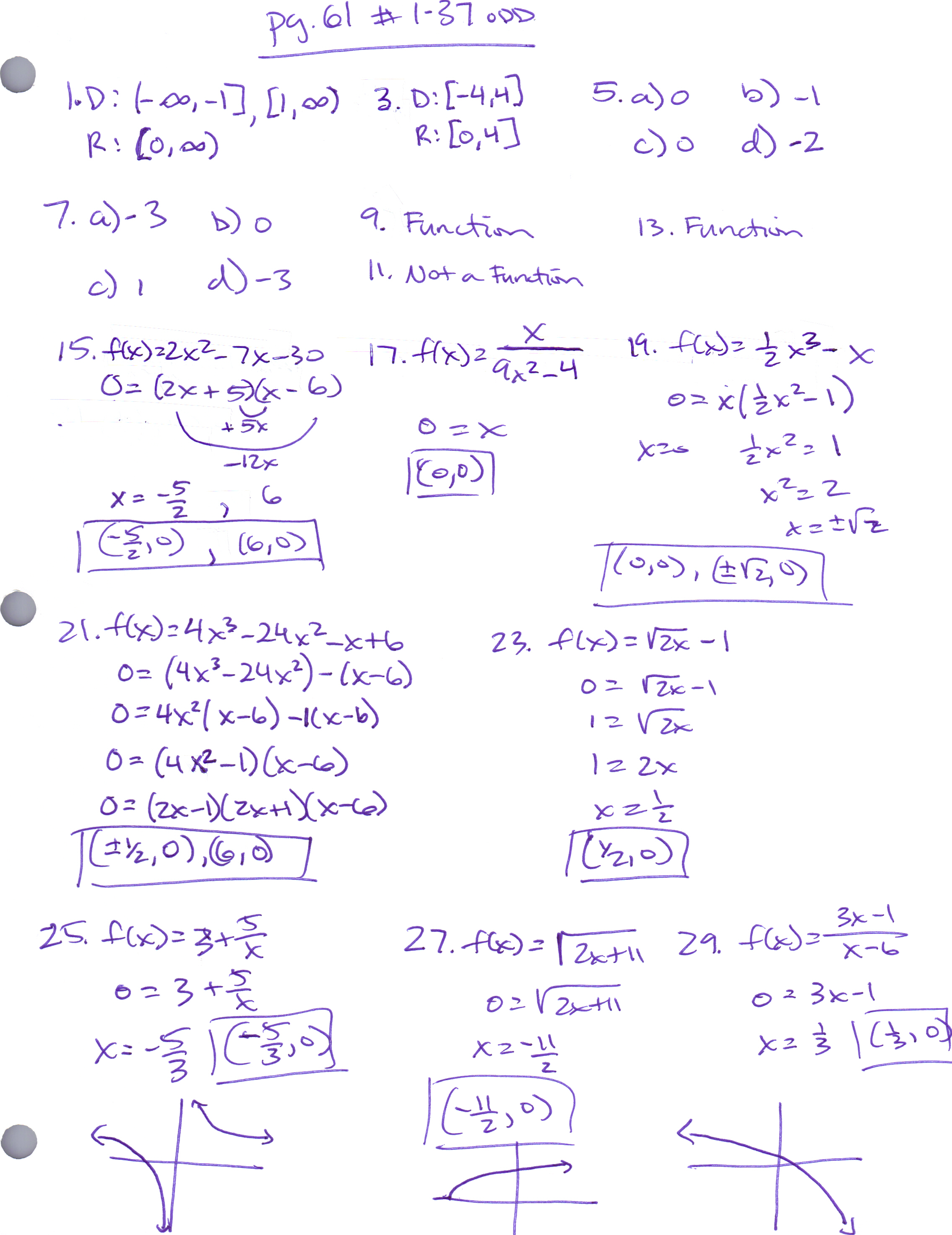 Precalculus With Trigonometry Homework Help