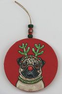 Red Nose Pug 1 by Melinda Dalke