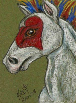 Hearts on Fire Pony by Kim Loberg