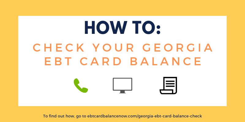 """""""How do I check the balance on my Georgia EBT card?"""""""